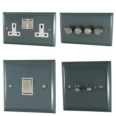 £24.50 • Buy Spectrum Plate Dark Grey SDG2 Light Switches, Plug Sockets, Dimmers, Cooker Fuse