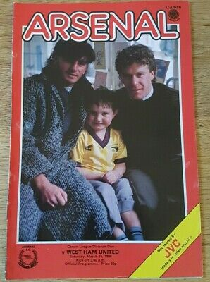 Arsenal V West Ham United 1985-86 • 0.99£