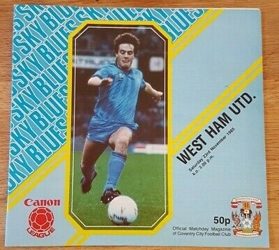 Coventry City V West Ham United 1985-86 • 0.99£