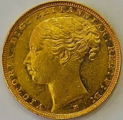 1886 22ct Gold Full Sovereign Queen Victoria Young Head Vg Condition My Ref T16 • 410£