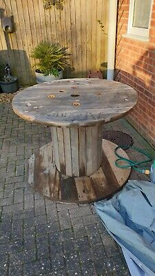 1 Large Rustic Wooden Cable Drum Reel. Upcycle 120 Cm Diameter 85 Cm High • 5£