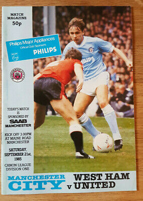 Manchester City V West Ham United 1985-86 • 0.99£
