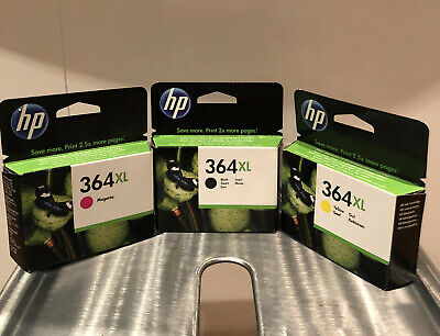 HP 364 X/L Ink Cartridges Black/Yellow/Magenta • 8.50£