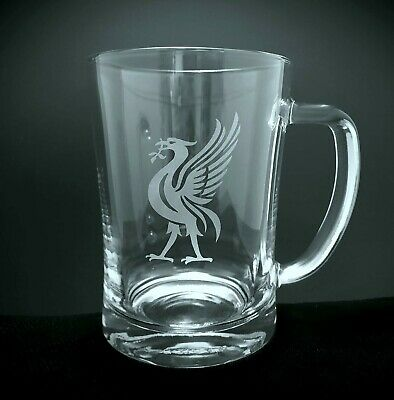 Personalised Liverbird Engraved Tankard, Pint Glass, Liverpool, Larger, Beer • 9.99£