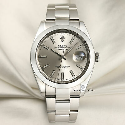 $ CDN11541.62 • Buy Rolex DateJust 41 126300 Silver Dial Stainless Steel