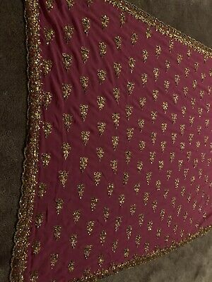 Asian Indian Saree Party Wedding Designer Preowned With Blouse Size 10-12 Pink • 6£