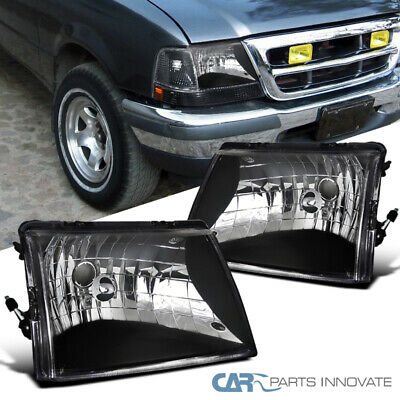 $60.75 • Buy For 98-00 Ford Ranger Pickup Euro Style Black Headlights Head Lights Lamps Pair