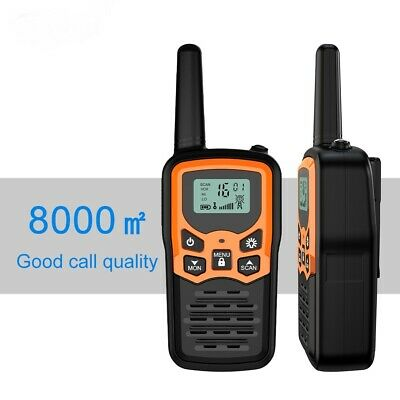 $ CDN43.64 • Buy 2 PCS VHF WALKIE TALKIE TRAVEL TWO WAY LONG RANGE RADIO 22 CHANNELS 10 Km RANGE