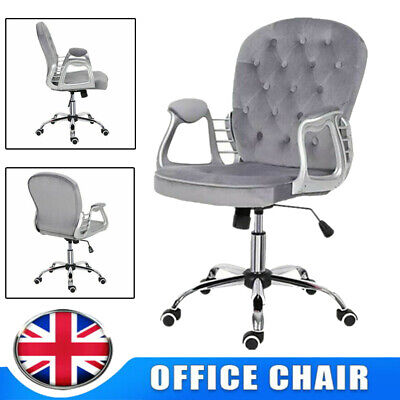 Executive Office Chair Velvet Swivel Gaming Computer Desk Seat Chairs Recliner • 80.99£