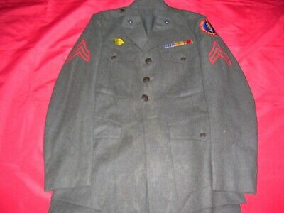 $599.99 • Buy WWII WW2 ID'd Documented USMC Marine Raider Uniform With File