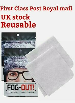 Reusable Anti Fog Glasses Lens Fabric Cleaning Cloth Wipe Defogger Cloth 72 Hrs • 2.75£