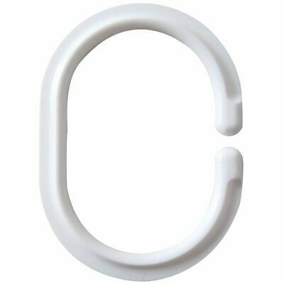 RIDDER Shower Curtain Rings White Hooks Bathroom Bath Blind Accessories 49301 • 22.65£