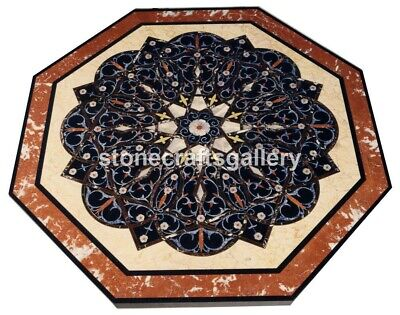 3'x3' Marble Side Dining Table Top Marquetry Inlay Stone Occasional Decors B030 • 1,372£