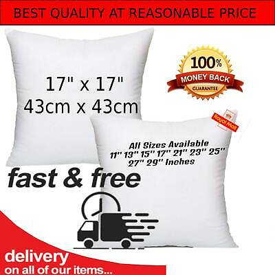 Cushion Pads 17x17 Inch 43 X 43 Cm Inners Inserts Fillers Extra Deep Filled Sofa • 9.47£