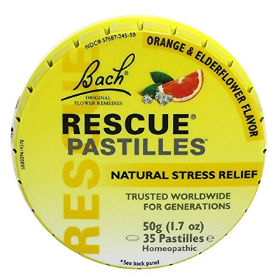 Bach Rescue Remedy Natural Stress Relief Pastilles Original Flavor 1.7 Oz May • 7.30£