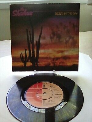 THE SHADOWS - Riders In The Sky 7  VINYL SINGLE N/M 1980 Play Tested • 4.99£