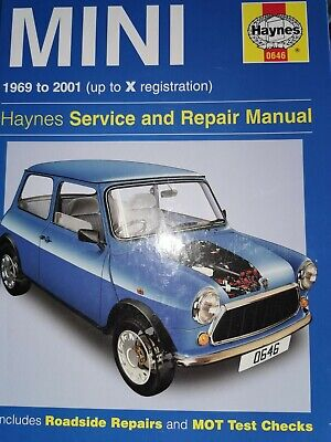 Haynes Mini Service And Repair Manual 1969-2001 (up To X Registration) • 2.40£