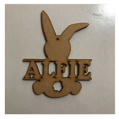 £3.45 • Buy Personalised Easter Bunny Decorations - Named Monograms, Rabbit, Chick, Chicken