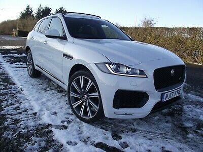 2017 Jaguar F-pace V6 S Awd 300 Bhp Diesel 1 Owner Yulong White Pan Roof  • 26,750£