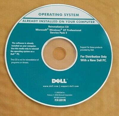 Genuine Dell Windows XP Professional SP3 Reinstallation CD Disk  • 6£