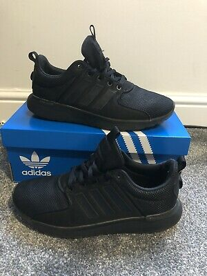 Triple Black Adidas Trainers Size 7 School Shoes Gym • 4.99£