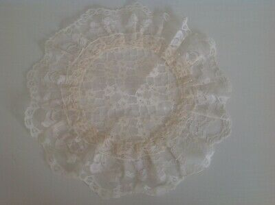 Vintage White Round Lace Dressing Table Doily / Mat • 3.99£