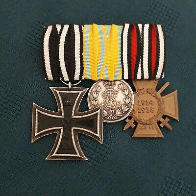 Ww1 German Iron Cross Group Of Medals For Saxony • 175£