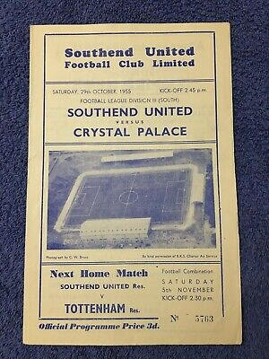 Southend United V Crystal Palace 1955/56 • 1£