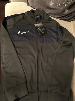 Boys Nike Dri-Fit Zipper Track Top Grey Blue Size M 8-10 Years New Gift • 20£