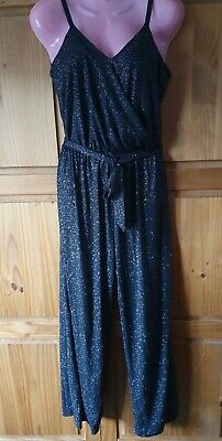BNWTRedherring Size 8 Black/Silver Pinstripe, Strappy, Wrap Over Chest, Jumpsuit • 1£
