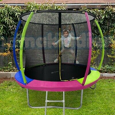 AU249 • Buy 8FT Trampoline Mamakiddied Trampolines Kids Enclosure Safety Net Pad Outdoor