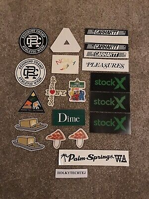 $ CDN12.52 • Buy Random Sticker Lot - Pleasures, Noah, Palace Skateboards, Kaws, Carhartt, Dime