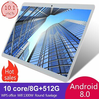 AU129.99 • Buy 10.1 In 8+512GB WiFi Game Tablet PC HD IPS Screen GPS Dual Camera PC Computer US
