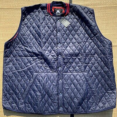 $30 • Buy Winston Quilted Vest Mens Size 6XLT Blue Red NWT