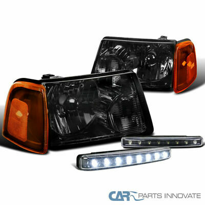 $80.70 • Buy 01-11 Ford Ranger Pickup Smoke Headlights Corner Lamps Black 8-LED Fog Bumper