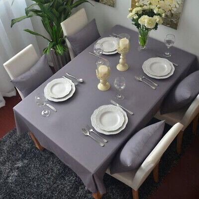AU12.24 • Buy Gray Tablecloth Dining Rectangle Kitchen Desk Table Cloth Cover Party Home Decor