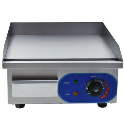£85 • Buy 1500W Electric Griddle Flat Hotplate Commercial BBQ Grill Bacon Countertop Fryer