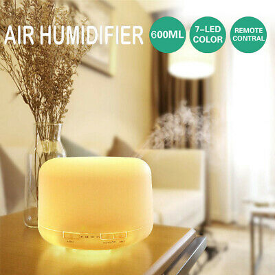 AU24.99 • Buy 500 ML Essential Air Mist Oil Aroma Diffuser Ultrasonic Humidifier Aromatherapy