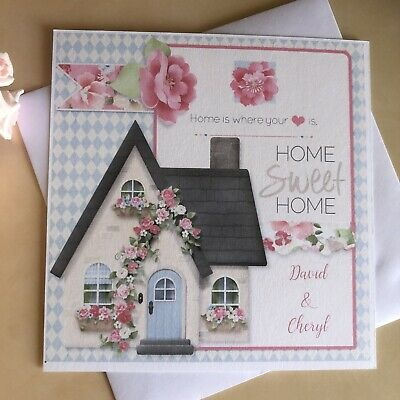 Handmade Personalised Moving House New Home Card • 3.50£