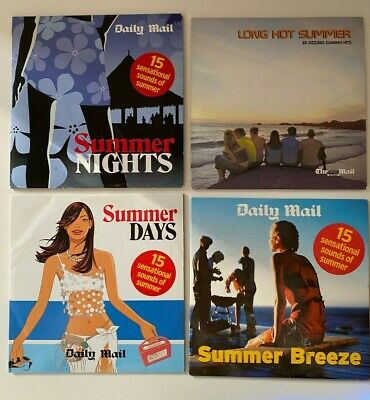 £3.95 • Buy 4 X Daily Mail Promo CD's Summer Nights Music Compilation Albums NEW