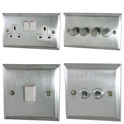 £21.95 • Buy G&H Deco Plate Satin Chrome DSCW Light Switches, Plug Sockets, Dimmers, Cooker
