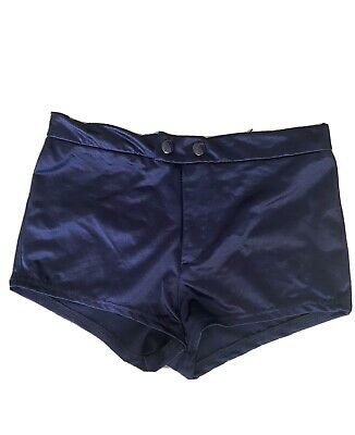 Topshop Navy Blue Women's Shorts Hotpant Satin Style Ladies Bottoms  - 10 • 2.99£
