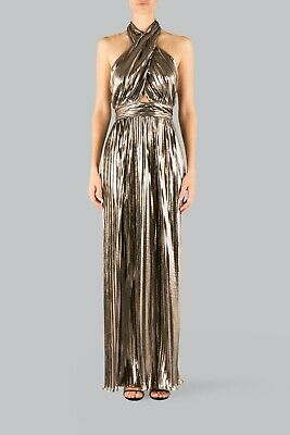 AU289 • Buy Carla Zampatti The Monroe Gold Gown Size 6 (Fits AU 6-8) WORN ONCE RRP $899