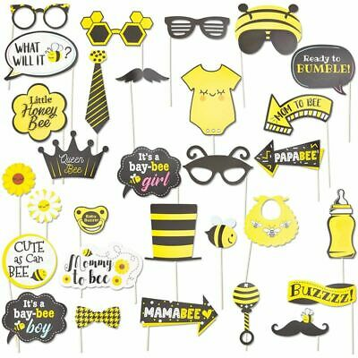 £7.11 • Buy 30pc Bumblebee Photo Booth Props Kit, Honey Bee Baby Shower Party Decorations