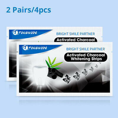AU8.41 • Buy Whitening Teeth  Strips Activated Charcoal Teeth Whitening Strip 2 Pairs /4pcs