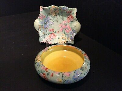 Shelley,   Melody   Chintz,  Two Pieces..an Astray & A Pin Dish Approx 4  Across • 25.99£
