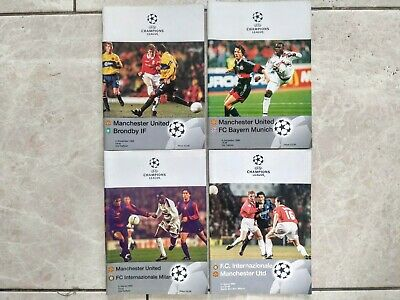 Manchester United Treble Programmes - Group Stage & Quarter Final Vs Inter Milan • 0.99£