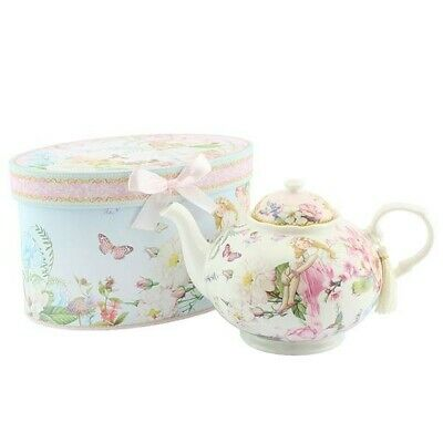 Beautiful Unique Gift Collectors Fairy Garden Teapot In A Gift Box • 18£