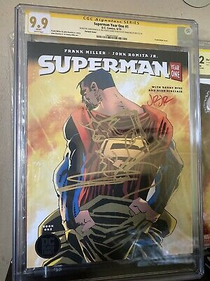 £495.59 • Buy Superman:Year One #1 Cgc 9.9 SKETCHED By Frank Miller And Signed By JRJR