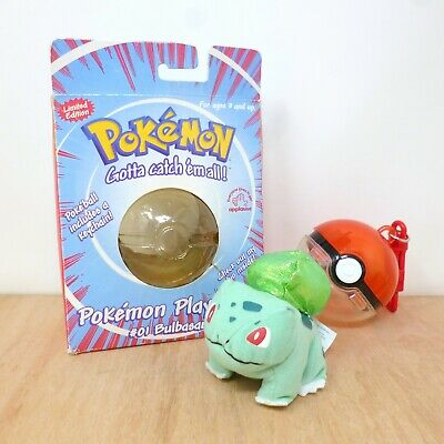 Official Pokemon Applause Playables 1999 Bulbasaur Plush Soft Toy & Pokeball 4  • 9.99£
